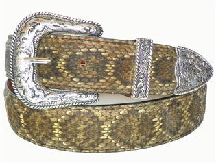 "Rattlesnake Belt 1 1/2"" with Taos Buckle Set"