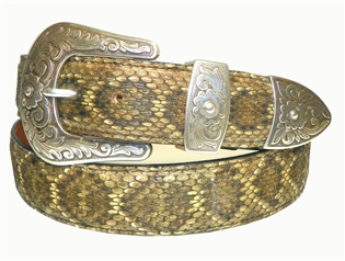 "Rattlesnake Belt 1 1/2"" with Silverton Buckle Set"