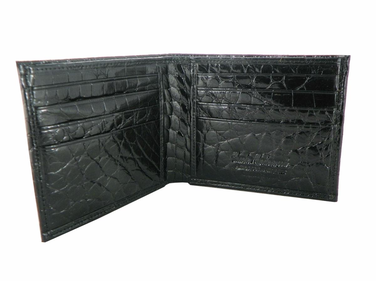 68b3ad3b2aa7 Alligator Billfold Wallet with Alligator Interior