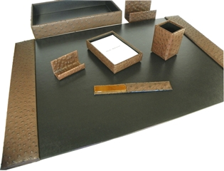 Ostrich 7-Piece Desk Set