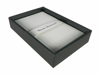 British Lamb Leather Memo Box with 4x6 Paper