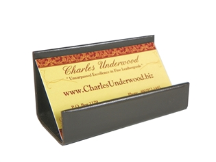 Italian Kid Leather Business Card Stand