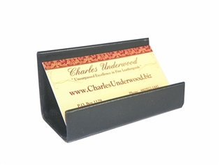 British Lamb Leather Business Card Stand