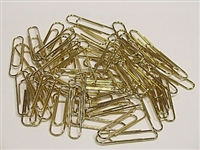 914 Desk Pad - Deluxe Brass-Plated Paper Clips