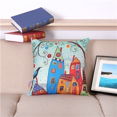 Vintage Homes Style 1 Square Decorative Pillow
