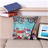 Vintage Homes Style 3 Square Decorative Pillow