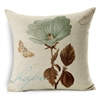 Hope Botanical Postal Vintage Square Decorative Pillow