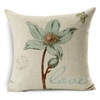 Love Botanical Postal Vintage Square Decorative Pillow