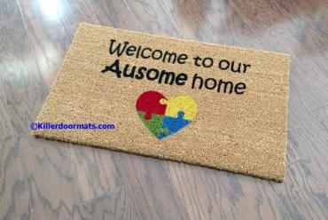 Welcome to our Ausome Home Custom Doormat by Killer Doormats