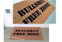 Bullsh*t Free Zone Custom Doormat Censored or Uncensored by Killer Doormats