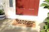 Warning Badass Dog On Duty Funny Custom Handpainted Welcome Doormat by Killer Doormats