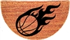 Basketball Half Moon Custom Handpainted Sports Welcome Doormat by Killer Doormats