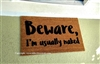 Beware I'm Usually Naked Custom Handpainted Funny Doormat by Killer Doormats