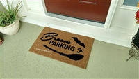 Broom Parking Custom Handpainted Holiday Fandom Doormat by Killer Doormats