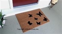 Scattered Butterflies Custom Doormat by Killer Doormats