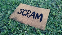 Clearance Scram Custom Doormat by Killer Doormats