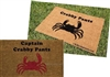 Captain Crabby Pants Custom Doormat by Killer Doormats