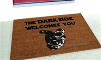 The Dark Side Welcomes You Custom Handpainted Fandom Welcome Doormat by Killer Doormats