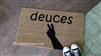 Deuces Custom Handpainted Doormat by Killer Doormats