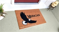 Flying Eagle 'Merican Custom Handpainted Patriotic Welcome Doormat by Killer Doormats