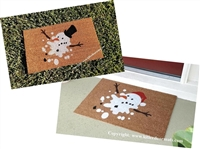 Melted Florida Snowman Custom Doormat by Killer Doormats
