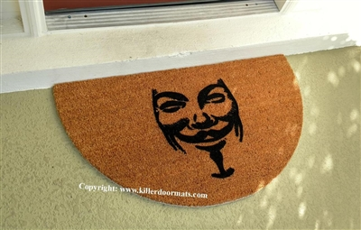 Guy Fawkes Mask Custom Doormat by Killer Doormats