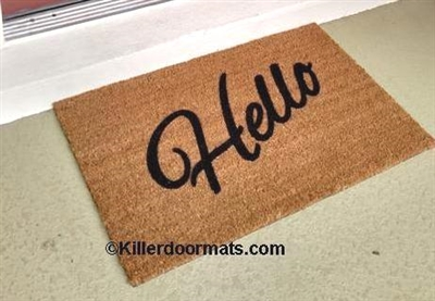 Hello Custom Doormat by Killer Doormats