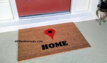 Maps Home Locator Custom Doormat by Killer Doormats