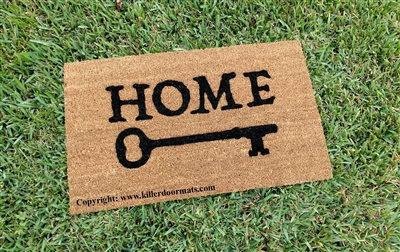 Home (with a key) Custom Doormat by Killer Doormats