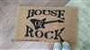House of Rock with Guitar Custom Handpainted Welcome Doormat by Killer Doormats