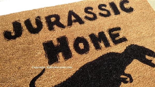 Jurassic Home Custom Doormat By Killer Doormats