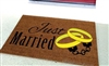 Just Married Handcuffs Custom Doormat by Killer Doormats