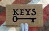 Keys (with a key) Custom Doormat by Killer Doormats