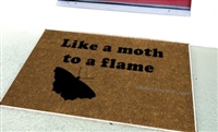 Like a Moth to a Flame Custom Doormat by Killer Doormats