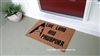Live Long and Pawspurr Funny Fandom Custom Handpainted Welcome Doormat by Killer Doormats