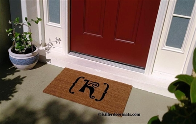 Monogram Custom Doormat by Killer Doormats