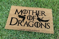 Mother of Dragons GoT Custom Handpainted Fandom Doormat by Killer Doormats