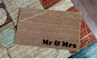 Mr & Mrs Custom Doormat by Killer Doormats