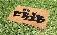 My Crib Graffiti Custom Handpainted Welcome Mat by Killer Doormats