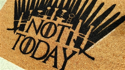 Not Today Iron Throne GoT Fandom Custom Doormat by Killer Doormats
