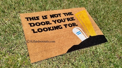 This Is Not The Door You're Looking For Custom Handpainted Fandom Doormat by Killer Doormats, Version 1