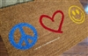 Peace Love Happiness Custom Doormat by Killer Doormats