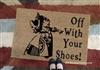 Off With Your Shoes! Queen of Hearts Custom Doormat by Killer Doormats