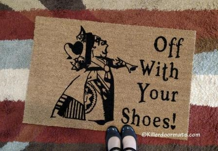 Well-liked Off With Your Shoes! Queen of Hearts Custom Doormat by Killer Doormats WC31