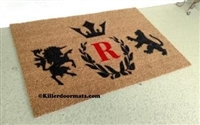 Regal Crest with Monogram Custom Doormat by Killer Doormats