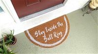 Stay Inside the Salt Ring Half Moon Custom Handpainted Fandom Welcome Doormat by Killer Doormats