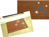 Scattered Snowflakes, Classic or Modern Custom Doormat by Killer Doormats