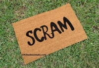 Scram Custom Doormat by Killer Doormats