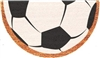 Soccer Ball Half Moon Custom Handpainted Sports Welcome Doormat by Killer Doormats