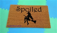 Spoiled Witch Custom Doormat by Killer Doormats